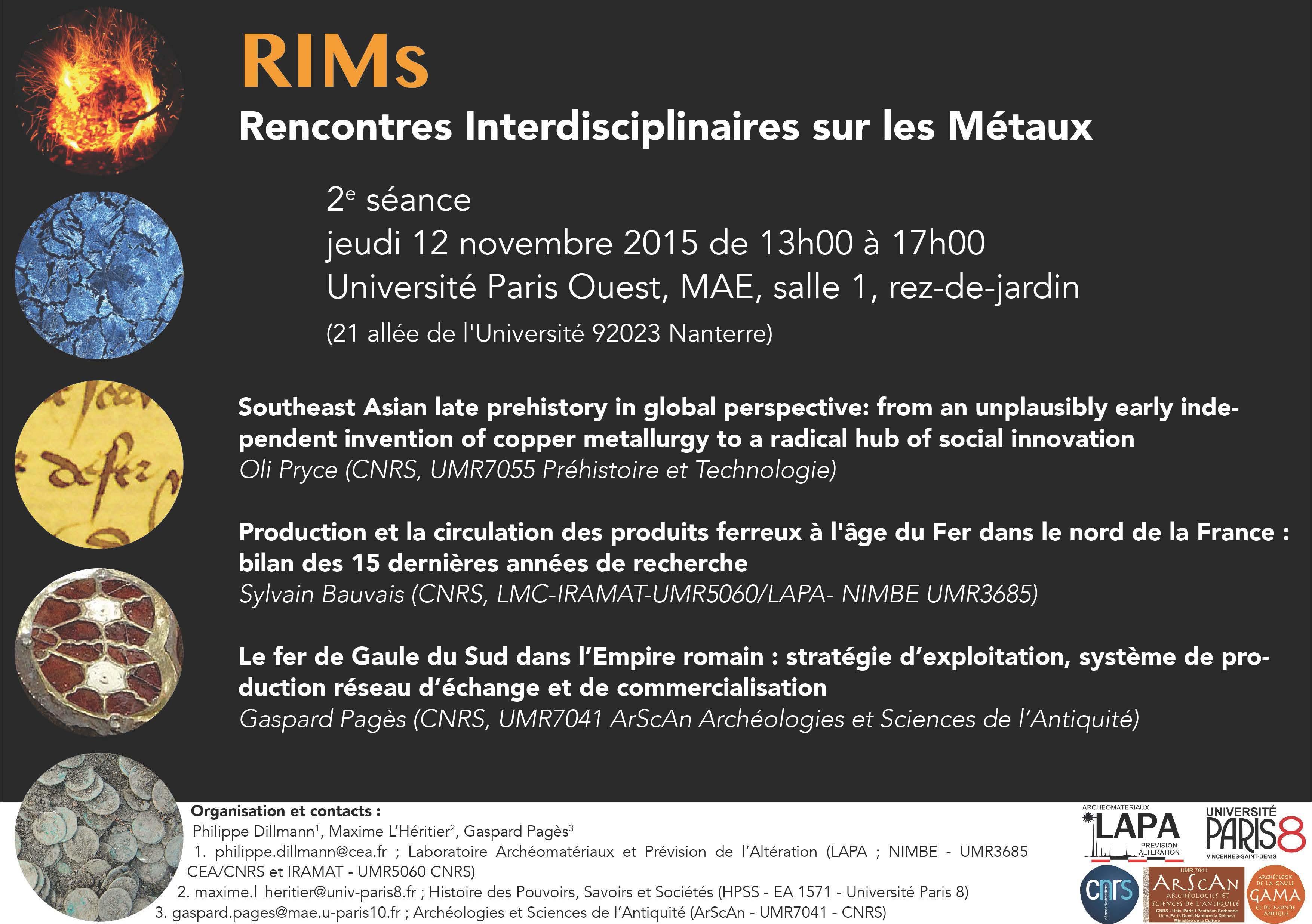 ... 2e séance - Centre de recherches historiques de l'université Paris 8